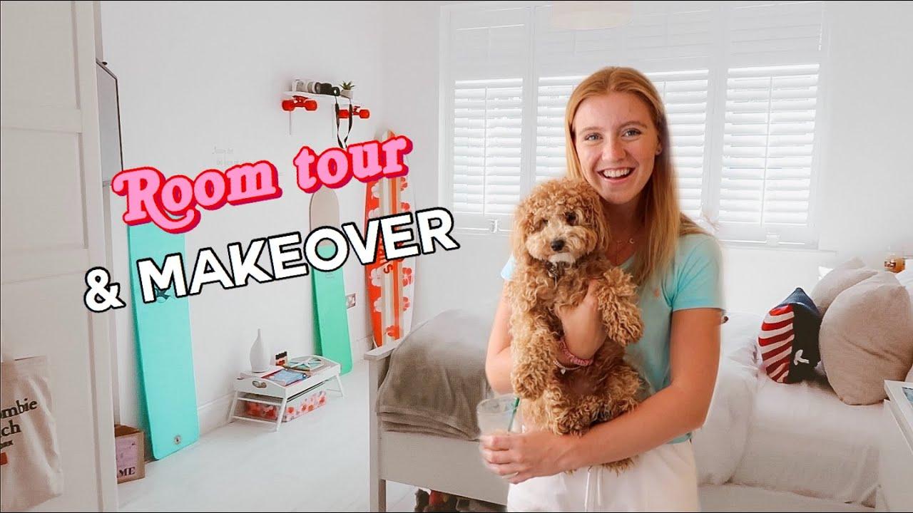 Room Makeover Tour 2020 Aesthetic Beach Surfer Theme Bedroom Youtube