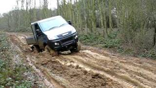Iveco Daily 4x4 in the mud