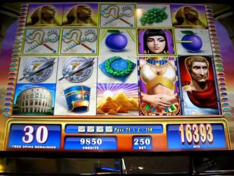Rome & Egypt slot machine MEGA BIG WIN- 50free games+7 retriggers w/max bet.MOV