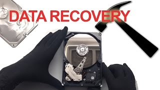 Data recovery from hammer damaged hard drive challenge