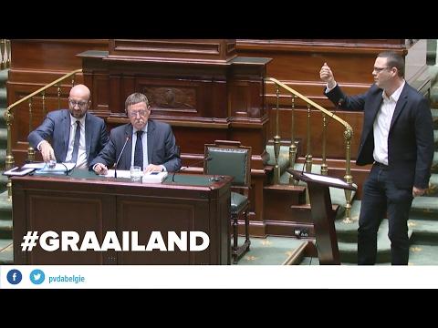 Raoul Hedebouw (PVDA) veegt graaier Siegfried Bracke de mantel uit in Kamer