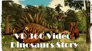 VR 360 Video Discovery Dinosaurs Story 3D Animated Film