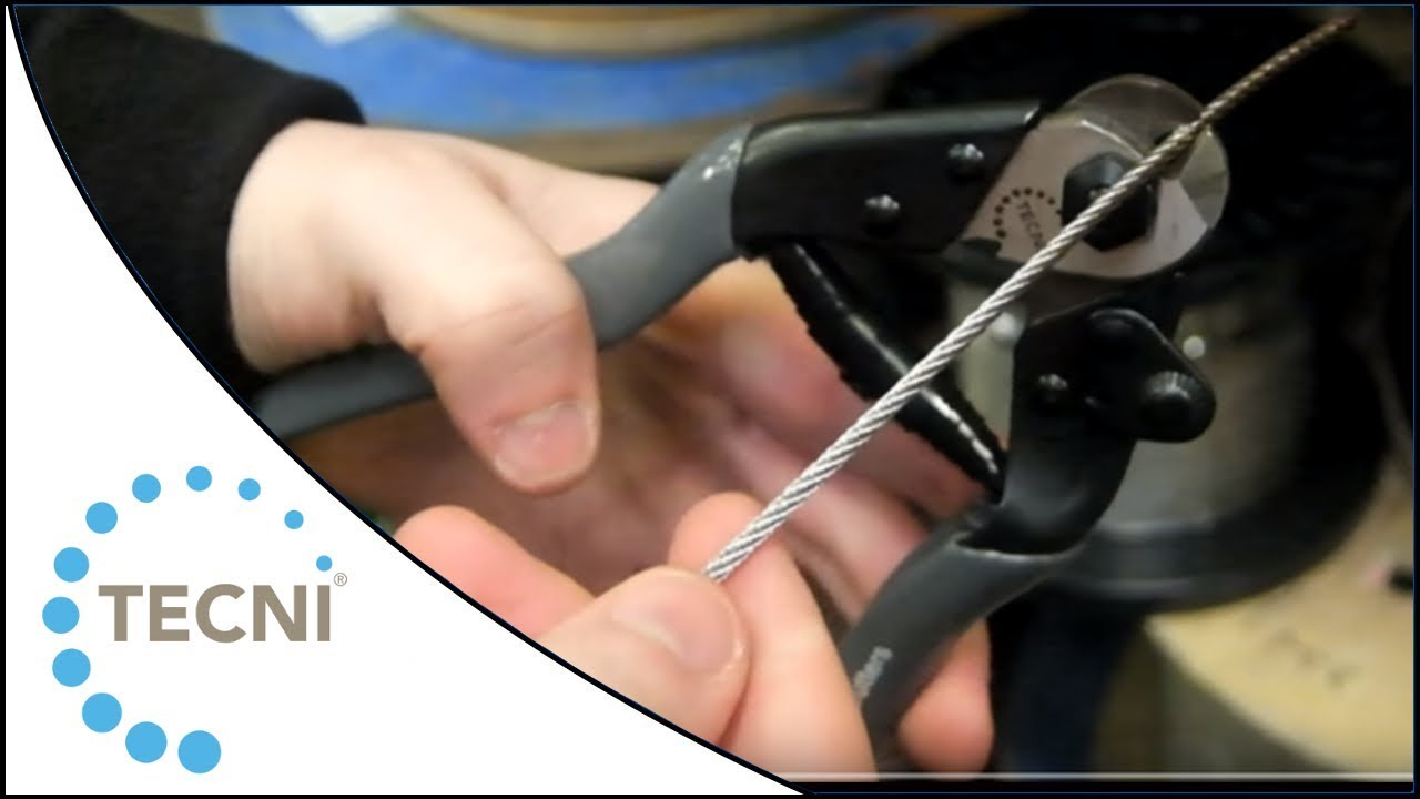 How to Cut Wire Rope using the TECNI 4mm Wire Rope and Cable Cutters ...