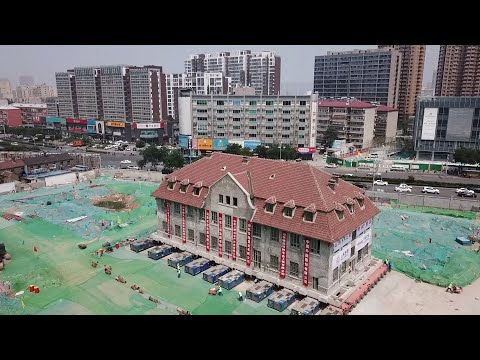 """19th-century building """"lifted and moved 70 meters"""" in Jinan, China"""