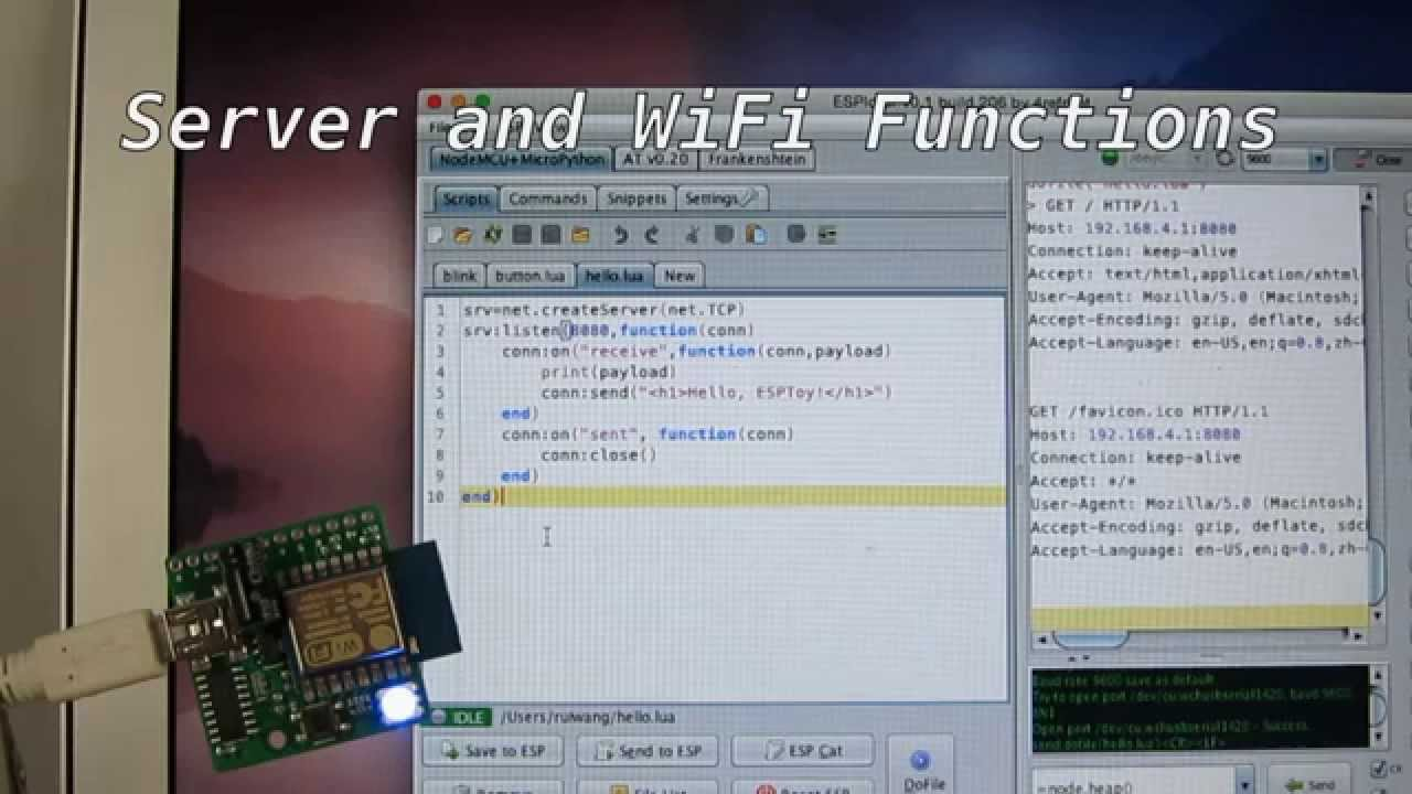 Introducing the ESP8266 WiFi Toy (ESPToy) « RAYSHOBBY NET