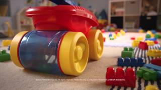 Smyths Toys - Mega Bloks First Builders Block Scooping Wagon