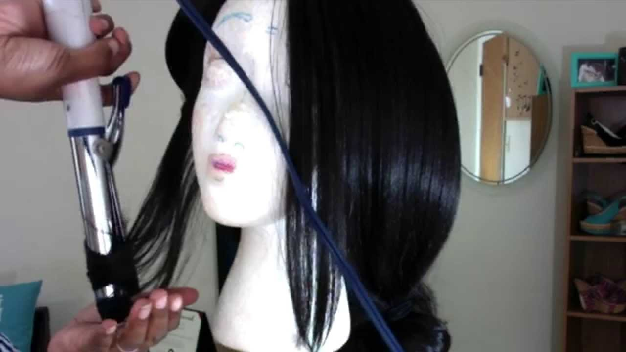 Easy How To Curl A Synthetic Wig With A Curling Iron No Pinning