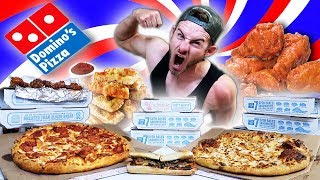 THE SUPERCHARGED DOMINOS MENU CHALLENGE! (12,000+ CALORIES)