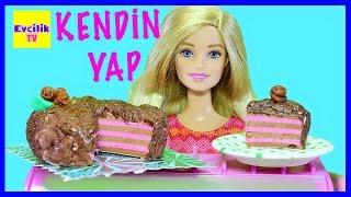 Kendin Yap Bölüm 23 | Barbie Winx bebekleri için Pasta nasıl yapılır | Evcilik TV