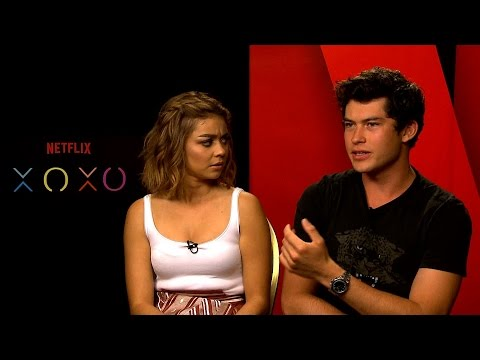 with Sarah Hyland and Graham Phillips  Stars of XOXO  Just Seen It