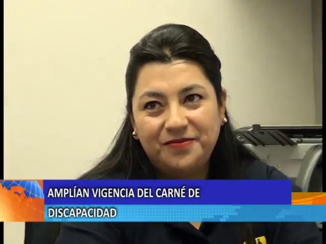 CONADIS amplia vigencia carnet de discapacidad.