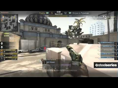 NiP vs Fnatic on de_dust2 @ Dreamhack Winter 2013 Grand Finals (CS:GO NiP vs FNC) Game 1
