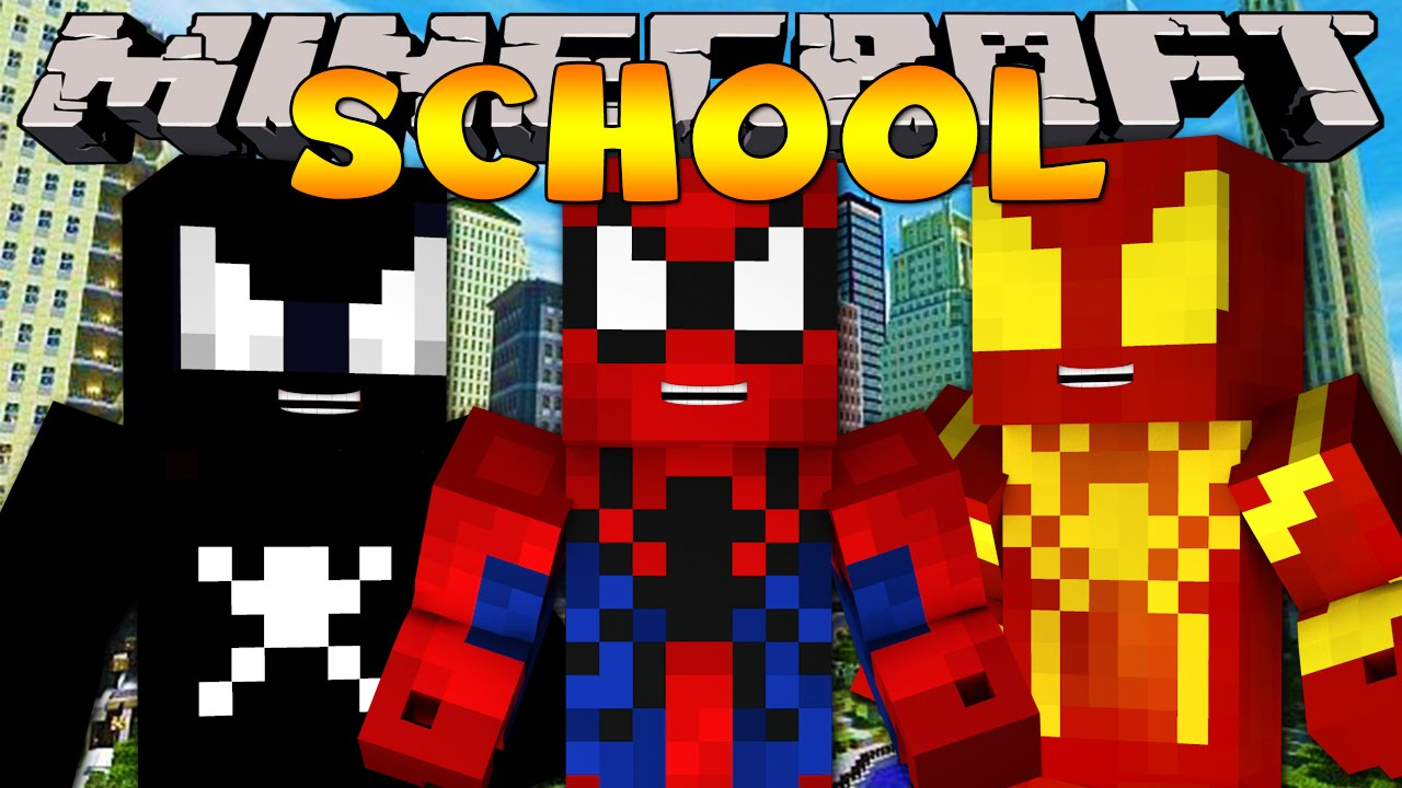 Minecraft School : HOW TO BE A SUPERHERO! - YouTube