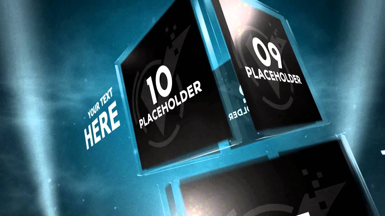 glass cubes intro ver.2 | sony vegas template - youtube, Presentation templates