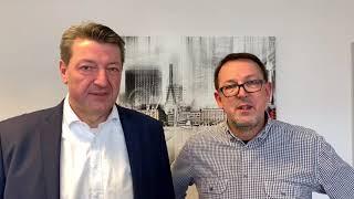 Hamburger Bürgerschaftswahl 2020 | Jan Koltze mit Unterstützer Alexander Heieis
