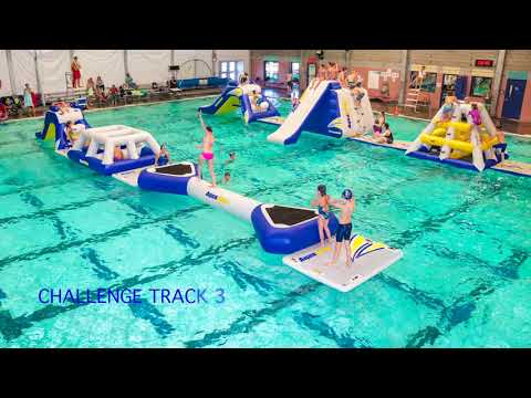 Obstacle course rental - Aquaglide  Commercial Pool Challenge Track 3
