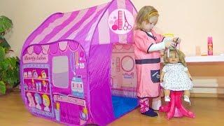 Кукла Беби бон Играем вместе в парикмахера Детское видео для девочек про куклы baby born doll