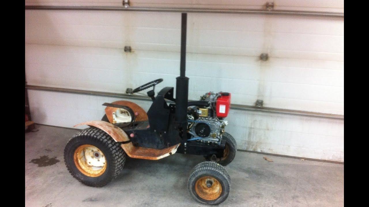 10hpsel Roper Garden Tractor Build Part 3