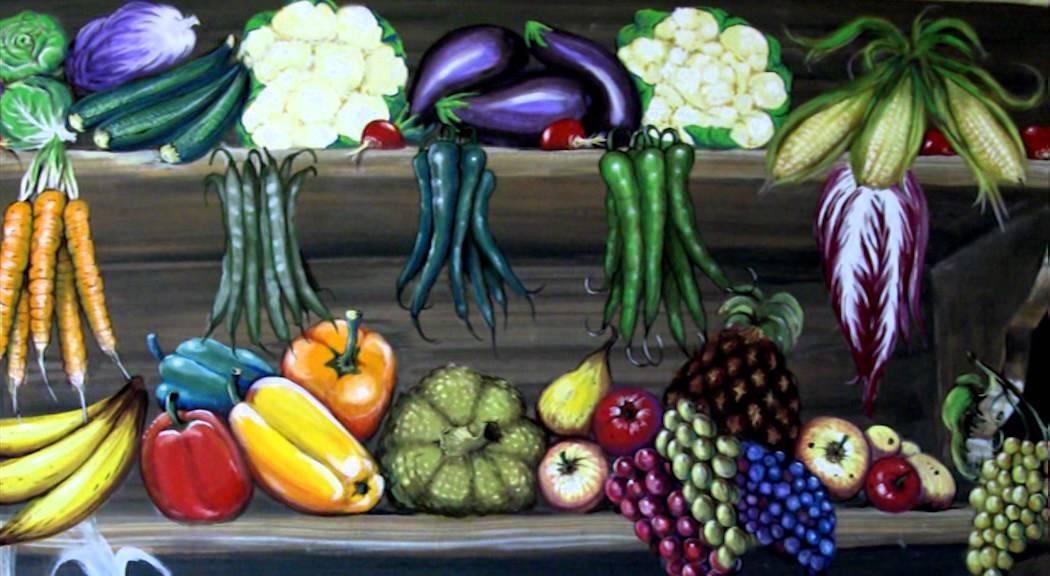 Arte decorativa dipinto con frutta e ortaggi youtube for Decorazioni con verdure e ortaggi