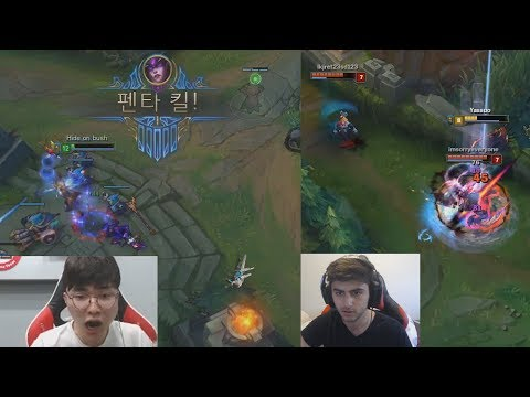 FAKER PENTA ON HIS BRAND NEW SKIN! | Yassuo GREAT ESCAPE! | OP LoL Stream