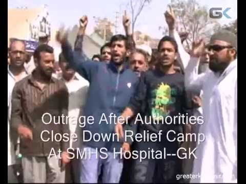 Outrage After Authorities Close Down Relief Camp At SMHS Hospital