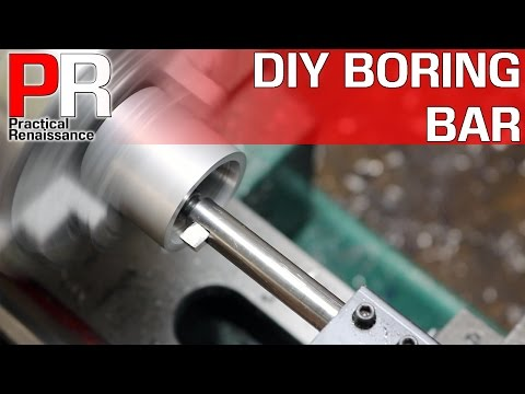 How to Make a Simple Boring bar for a Metal Lathe!