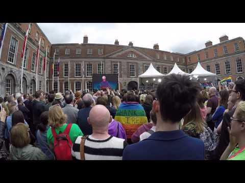 Marriage Equality Yes Vote at Dublin Castle - May 2015