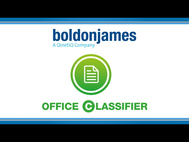 Boldon James | Office Classifier
