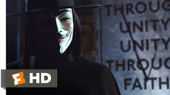"V for Vendetta (2005) - You May Call Me ""V"" Scene (1/8) 