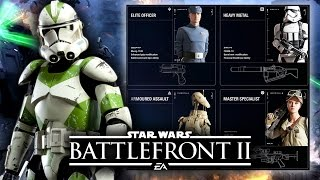 Star Wars Battlefront 2 - First Look at Classes In-Depth! Weapons, Abilities and Gameplay Styles! thumbnail