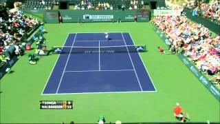 Nalbandian vs Tsonga - Indian Wells 2012 (Hot shots Set1)