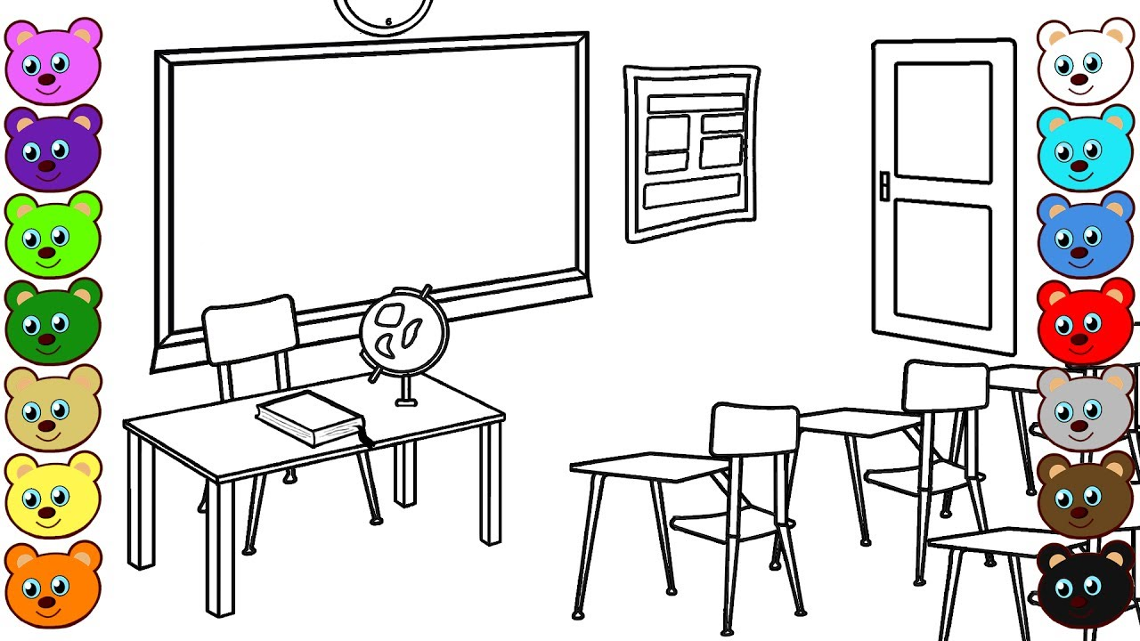 school room coloring pages - photo#13