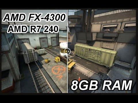 Counter Strike Go Amd Fx 4300 Amd R7 240 8gb Ram Youtube