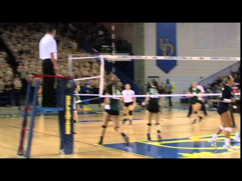 Delaware military Academy's Cassie Kowalski with a nasty Spike against Archmere