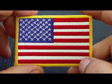 Embroidered American Flag Patches