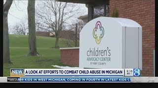 Blue pinwheels bring awareness to child abuse prevention