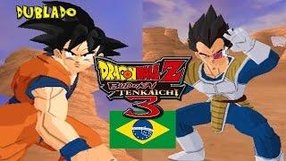 (PT-BR) Goku VS Vegeta Dublado - Dragon Ball Z Budokai Tenkaichi 3 Brasil
