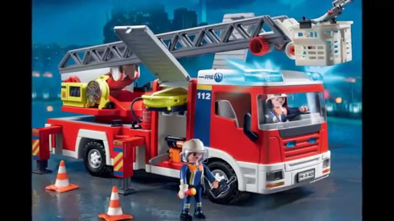 playmobil cami n de bomberos con escalera 4820 youtube