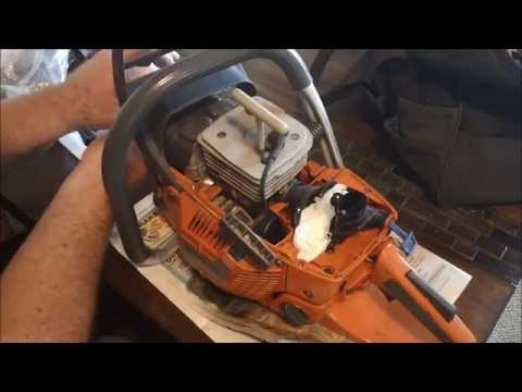 How To Remove a Husqvarna 390xp Cylinder Also Intake Boot Inspection & Replacement