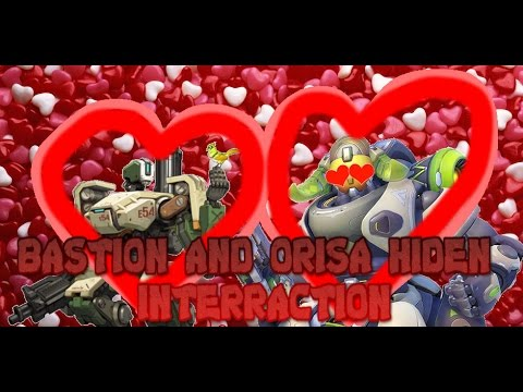 Overwatch Bastion and Orisa hidden Interraction