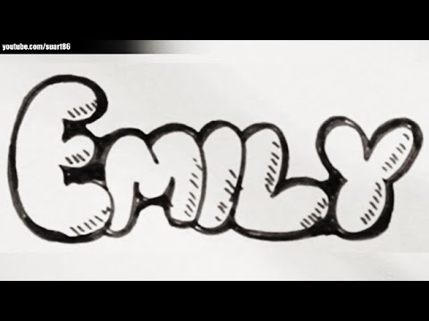 How To Draw The Name Emily Youtube
