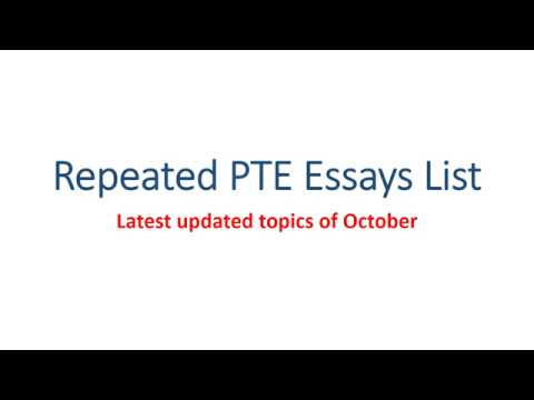 latest updated pte essay topics list  latest updated pte essay topics list