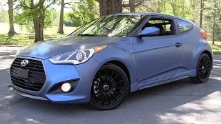2016 Hyundai Veloster Rally Edition Turbo 6 spd Start Up, Road Test In Depth Review