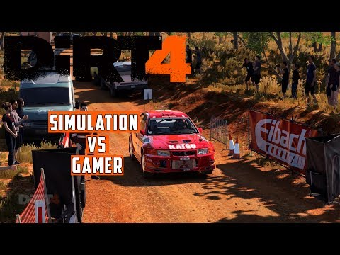 DiRT 4 - Simulation VS Gamer Handling (Australia) w/Thrustmaster Wheel Cam