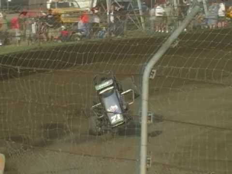 Damion Gardner Crashes Qualifying at Kokomo Speedway