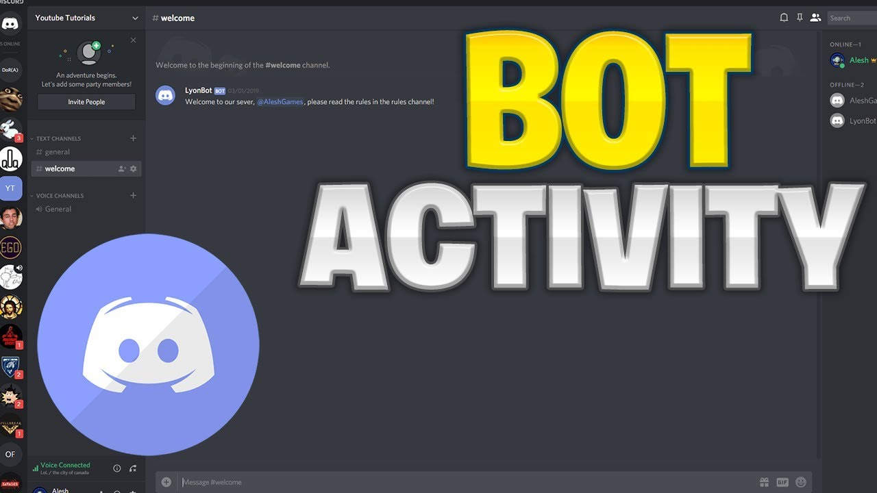 Make Your Own Discord Bot | Bot Activity (2019)