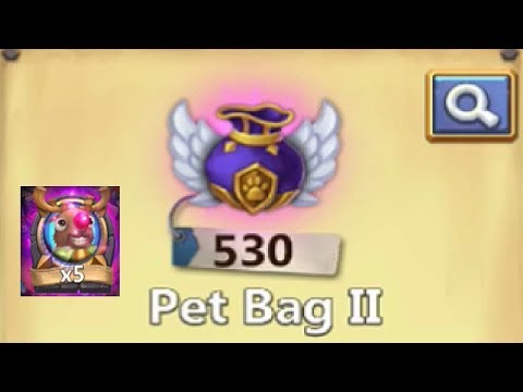 Opening 500+ Pet Bag 2 Looking For RuDUFF Castle Clash