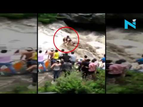 On cam: Three tourists saved with help of turban in Dharmsala