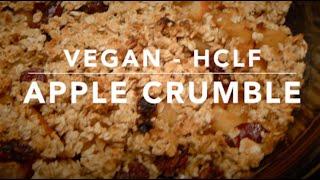 ❄ Vegan Apple Crumble ❄ (high Carb Low Fat)