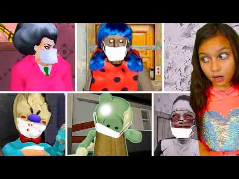 СЕКРЕТЫ Мороженщик 4 Vs Пигги 8 Vs Мисс ти КАРАНТИН / Ice Scream 3 Vs Piggy с Валеришка и БАЛДИ